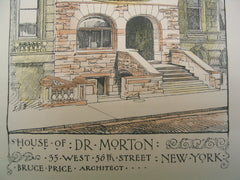 House of Dr. Morton on 35 West 56th Street , New York, NY, 1887, Bruce Price