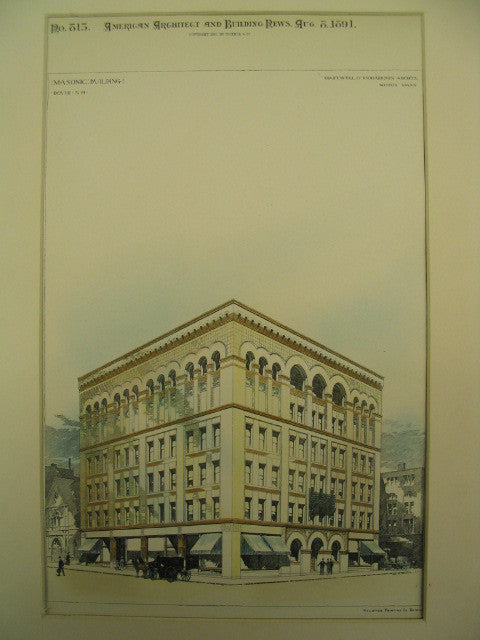 Masonic Building, Dover, NH, 1891, Hartwell and Richardson