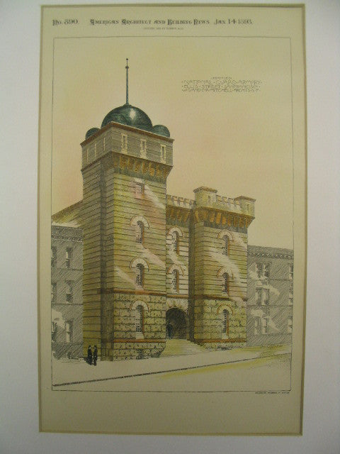 National Guard Armory on Ellis Street, San Francisco, CA, 1893, W. G. and C. R. Mitchell