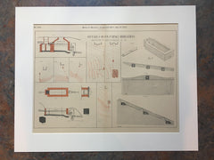 Detailed Plan of Sub Surface Irrigation System, 1892, Original *