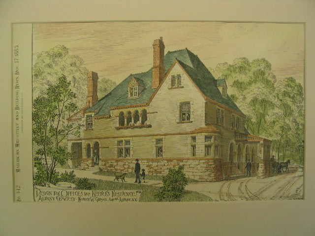 Offices and Keepers Residence at Albany Cemetery , Albany, NY, 1883, Robert W. Gibson