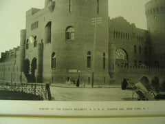 Armory of the Eighth Regiment of the New York National Guard on Fourth Ave., New York, NY, 1891