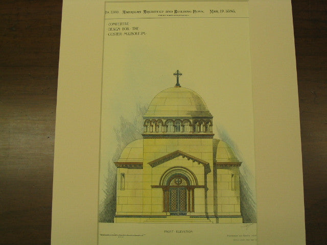 Coster Mausoleum, New York, NY, 1898, Stephenson and Greene
