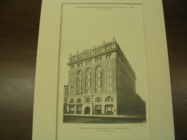 The Methodist Book Concern Building on Fifth Avenue, New York, NY, 1890, Edward H. Kendall
