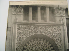 Entrance to the Rand and McNally Building, Chicago, IL, 1891, Burnham and Root