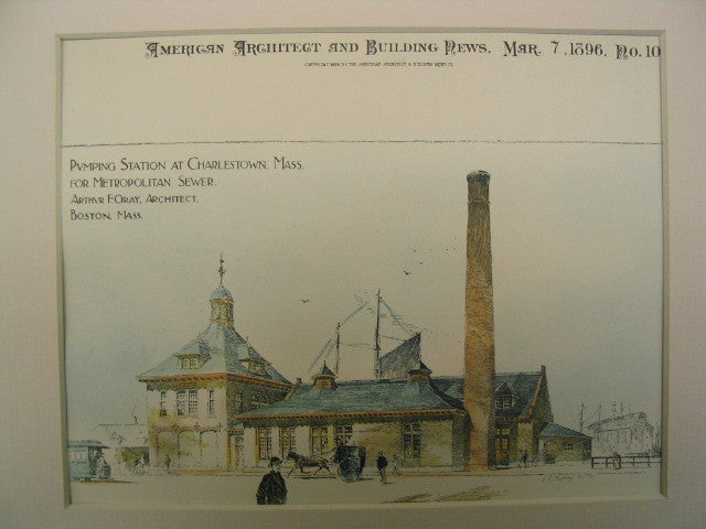 Pumping Station for Metropolitan Sewer , Charlestown, MA, 1896, Arthur F. Gray