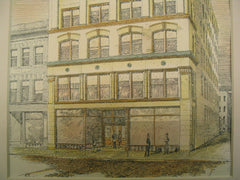 Business Premises for A. N. Mayo, Springfield, MA, 1896, Gardner, Pyne and Gardner