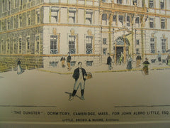 The Dunster Dormitory for John Albro Little, Cambridge, MA, 1896, Little, Brown and Morre