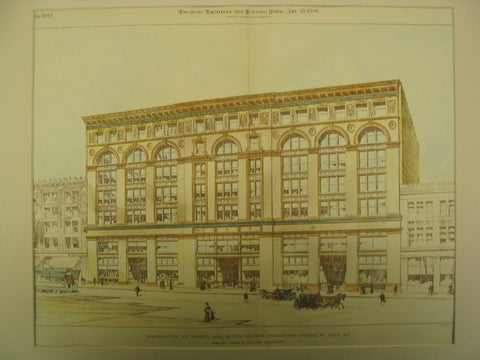 Building for the Lindell Real Estate Company on Washington Avenue, St. Louis, MO, 1896, Shepley, Rutan and Coolidge