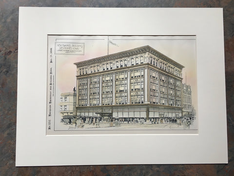 New Frankel Building, Des Moines, IA, 1899, Original Hand-colored *