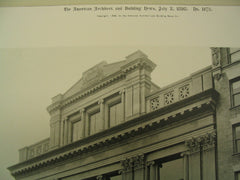 Bar Association Building Facade on 44th Street, New York, NY, 1898, C. L. W. Eidlitz