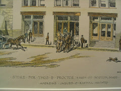 Store for Tomas E. Proctor on Essex St., Boston, MA, 1892, Andrews, Jaques and Rantoul