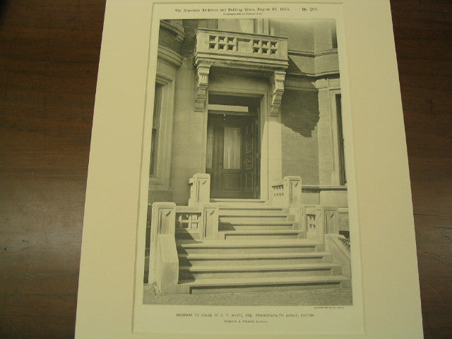 The Doorway to the House of C. T. White, Commonwealth Avenue, Boston, MA, 1890, Peabody and Stearns