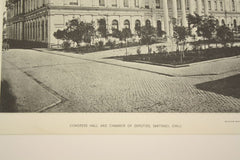 Congress Hill and Chamber of Deputies , Santiago, Chile, LAM, 1890, Unknown