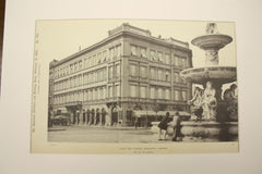House and Fountain, Budapest (Buda-Pesth), Hungary, EUR, 1891, Nic. Von Ybl