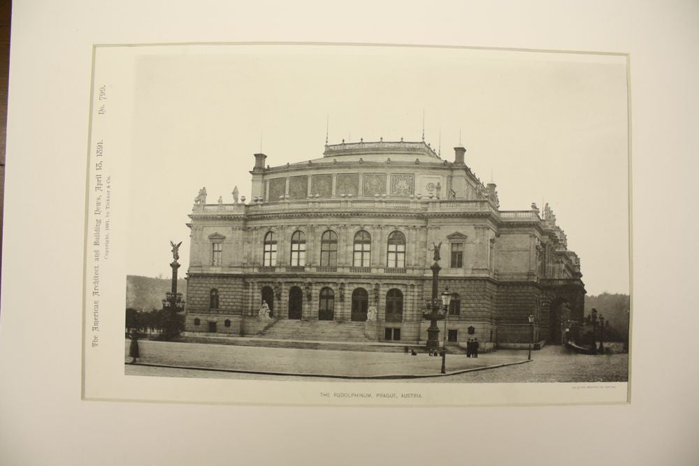 Rudolphinum , Prague, Austria [Czech Republic], 1891, Unknown