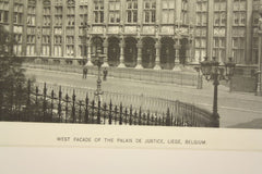West Facade of the Palais de Justice , Liege, Belgium, EUR, 1890, n/a