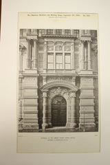 Entrance to the Larisch Palace , Vienna, Austria, EUR, 1890, Vandermill and Sicardsburg