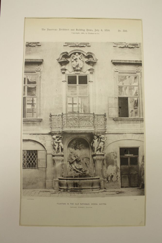 Fountain in the Old Rathhaus (Town Hall), Vienna, Austria, EUR, 1891, Raphael Donner
