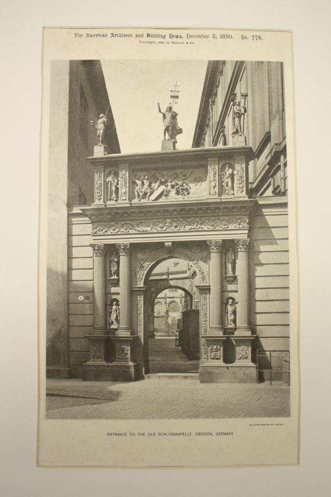 Entrance to the Old Schlosskapelle , Dresden, Germany, EUR, 1890, n/a