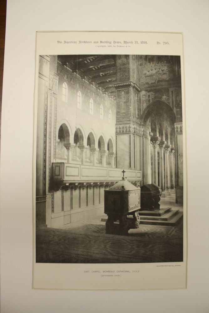 East Chapel of the Monreale Cathedral , Sicily, Italy, EUR, 1891, n/a