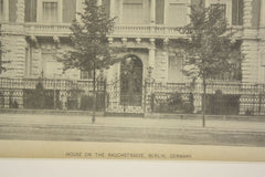 House on the Rauchstrasse , Berlin, Germany, EUR, 1890, Kaiser and Grossheim