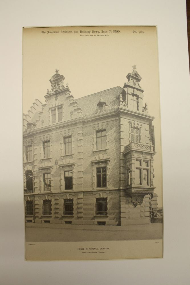 House , Mainz (Mayence), Germany, EUR, 1890, Von Hoven