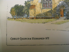 Christ Church, Herkimer, NY, 1888, R. W. Gibson