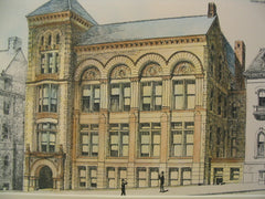 New Additional Building for the Worcester Free Public Library, Worcester, MA, 1890, Stephen C. Earle