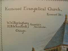 Kenwood Evangelical Church, Kenwood, IL, 1887, W. W. Boyington and H. B. Wheelock