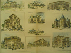 High School (MA), Youths Companion Bldg. (Boston), Palazzo Apt. House (MN), Arragon Apt. House (MN), Cancer Hospital (NY), and More, 1894, Various