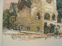 New Methodist Episcopal Church, Seabright, NJ, 1889, Wm. B. Bigelow