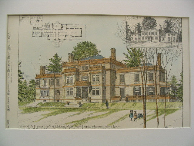 House of A. T. Lyman, Waltham, MA, 1883, Hartwell and Richardson