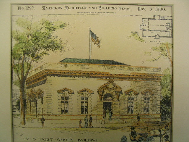United States Post Office Building, Monmouth, IL, 1900, James Knox Taylor
