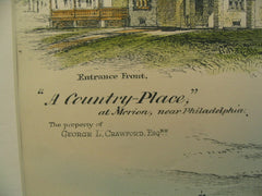 A Country-Place, Merion, PA, 1886, Benjamin Linfoot