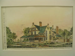 Astonfield, the Residence of Samuel Rhodes, New York, NY, 1882, Alfred E. Barlow