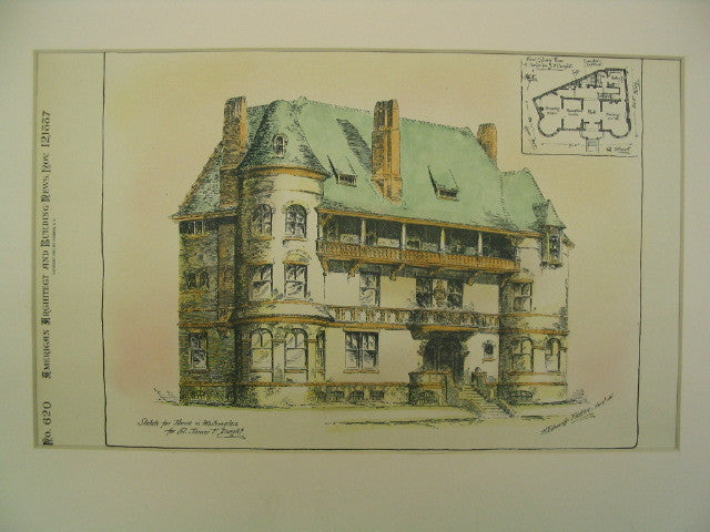 House for Col. James F. Dwight, Washington, D.C., DC, 1887, H. Edwards Ficken