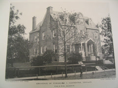 Residence of Frederick I. Carpenter, Chicago, IL, 1890, Pond & Pond