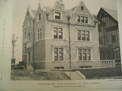 Residence for Hugh McKittrick, St. Louis, MO, 1890, Shepley, Rutan & Coolidge