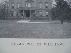 Sigma Phi at Williams College , Williamstown, MA, 1902, Unknown