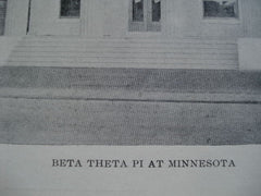 Beta Theta Pi at the University of Minnesota , Minneapolis, MN, 1902, Unknown