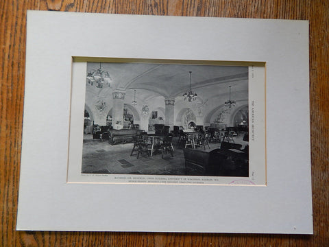 Rathskeller,Memorial Union Bldg.,U. of WI,Madison,WI.,1929,Lithograph. Arthur Peabody.