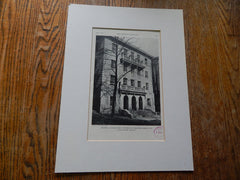 Memorial Union Building,University of Wisconsin,Madison,WI,1929,Lithograph. A. Peabody.