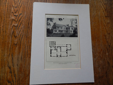 House of William Ross Teel,Indianapolis, IN,1929, Lithograph. Burns & James
