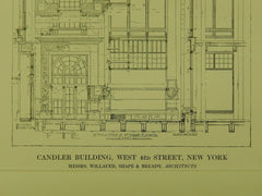 Detail of Elevation, Candler Bldg., 42nd St., New York, NY, 1898, Original Plan. Willauer, Shape & Bready