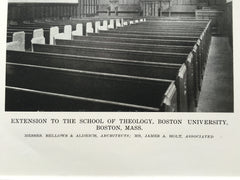 School of Theology #1, Boston Univ., Boston, MA, 1916, Lithograph. Bellows-Aldrich.