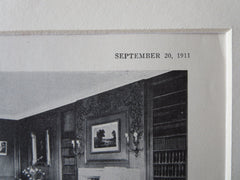 Interior, E.V.R. Thayer House, Lancaster, MA, 1911, Litho. Bigelow & Wadsworth