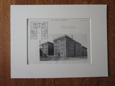 Irvington Court, Milwaukee, WI, 1911, Lithograph. Leenhouts & Guthrie