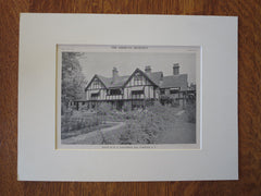 W.G. Gallowhur House, Scarsdale, NY, 1911, Lithograph. William Bates