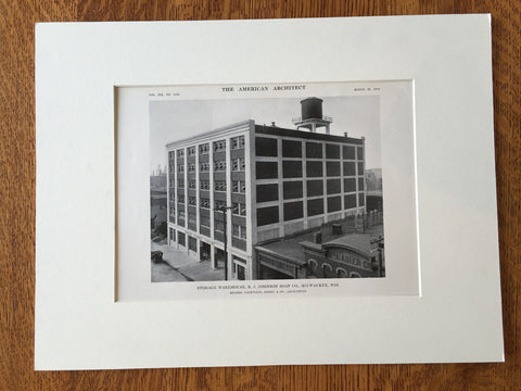B.J. Johnson Soap Co., Milwaukee, WI, 1916, Lithograph. Lockwood, Green and Co.
